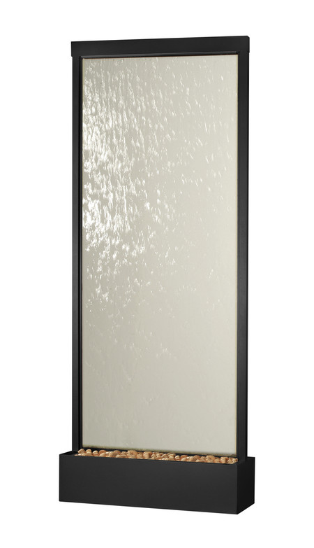 Black Onyx Grande With Clear Glass Floor Fountain