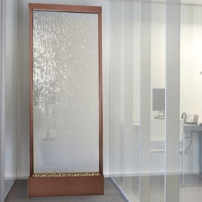 10' Copper Vein Grande With Clear Glass Floor Fountain