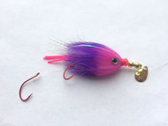 Kokanee Trolling Fly - Pink/Purple - Rigged