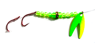 Reli Lures - Diamond Flash Spinner TM - UV Green