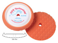 Lake Country Orange Curved Edge Foam Light Cutting Rotary Pad