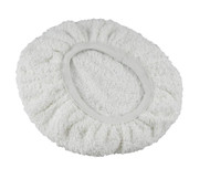 HT-100T White 11 inch Terry Cloth Bonnet