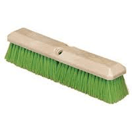 Magnolia's  3314N Green Flagged Nylon brush has 2½ inch filling material staple set in a 14 inch foam plastic block with two threaded handle holes.