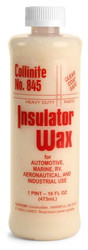 "storeLocator   No. 845  Insulator Wax  Last Step Gel Wax   Unique combination of high gloss shine, ease-of-use and long-lasting weather defense •#1 selling, ""most talked about"" Collinite product •Easy on, easy off application •Durable weather protection"