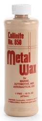 storeLocator   No. 850  Liquid Metal Wax  Metal Polish and Protectant    Removes surface contaminants while leaving behind radiant shine and coating of rust-preventing protection •Tough on rust and stains, yet easy to use •Restores, shines and protects in one step •For a variety of metal surfaces