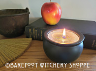 Ceramic Cauldron Candle