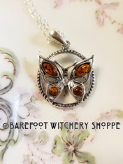 Amber Butterfly Transformation Necklace, Sterling Silver