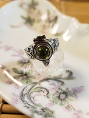 Peridot Poison Ring, Sterling Silver, Size 7