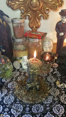 Black Skull Candle Spell Performed for You, For Enemy Working, Promoting a Breakup, or for Promoting or Banishing Negative Thoughts