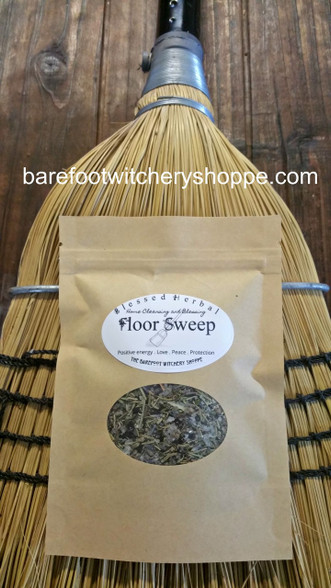Blessed Herbal Floor Sweep, for Home Cleansing and Blessing