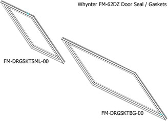 Door gasket(big) for FM-62DZ