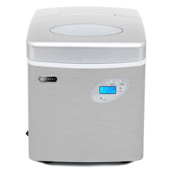 IMC-491DC Whynter Portable Ice Maker with 49lb Capacity Stainless Steel with Water Connection