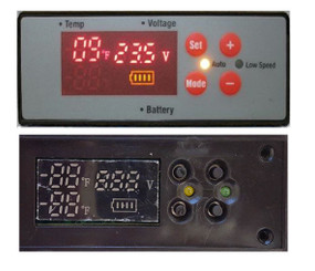 V2 - Temperature controller for FM-45G FM-65G FM-85G FM-452SG FM-951GW FM-951YW (with Fast Freeze and Battery Info)