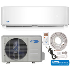 MSFS-012H23017-01NE Whynter Mini Split Inverter Ductless Air Conditioner System & Heat Pump Full Set SEER 17 12000 BTU 230V