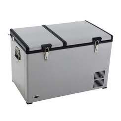 Whynter 90 Quart Dual Zone Portable Fridge/Freezer with 12V Option and Wheels