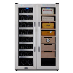 CWC-351DD Whynter Freestanding 3.6 cu. ft. Wine Cooler and Cigar Humidor Center