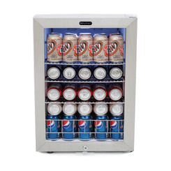 BR-091WS Whynter Beverage Refrigerator With Lock – Stainless Steel 90 Can Capacity