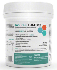 PURTABS VIRAL DISINFECTANT HOSPITAL GRADE DISINFECTANT | BOX of 6 canisters (200 tabs/canister)