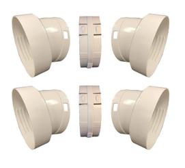 """Whynter V2 hose extender set (2) for Portable Air Conditioner Models  ARC-12SD, ARC-12SDH, ARC-14S, ARC-14SH, ARC-143MX, ARC-141BG (5.9"""" diameter hoses)"""
