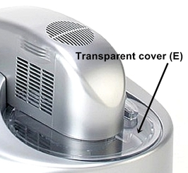 Transparent COVER for IC-2L
