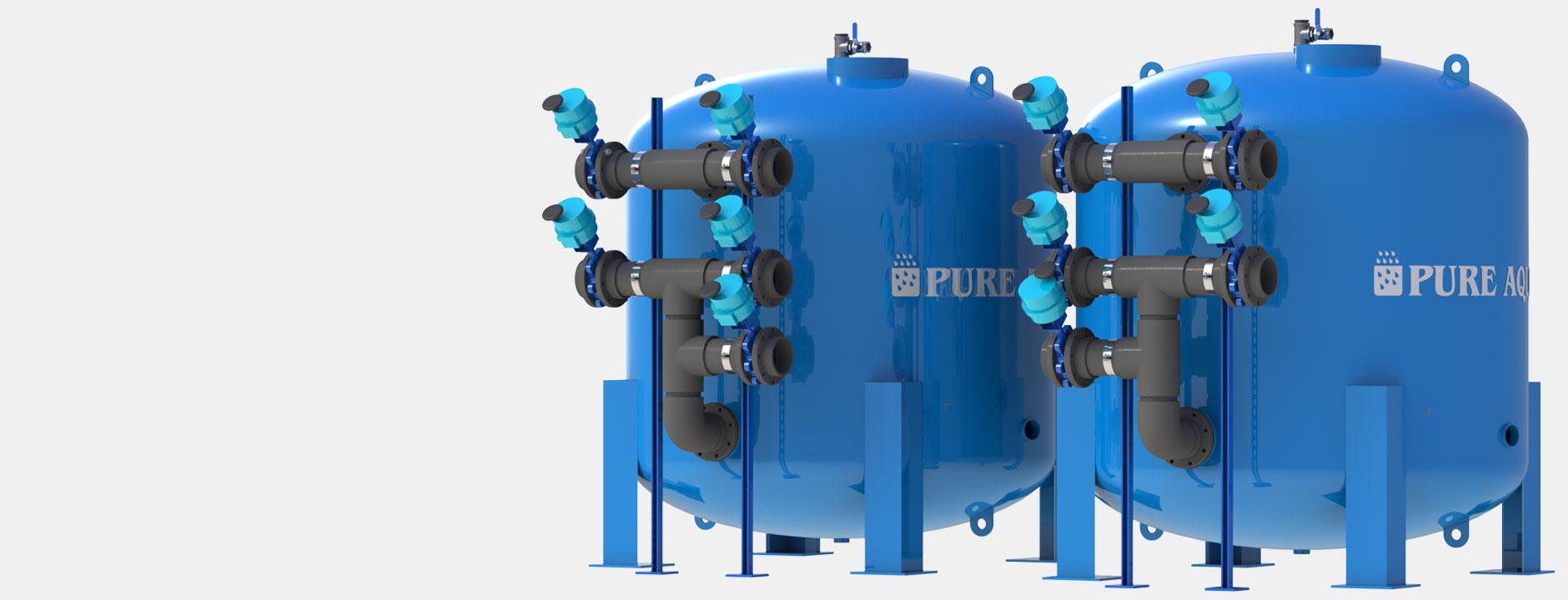 water media filters systems أنظمة تنقية المياه الصناعية و التجارية