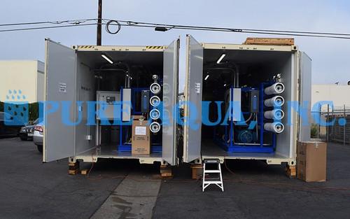 محطات تحلية مياه البحر للأغراض الصناعية في حاويات 100,000  جالون في اليوم - فنزويلا
