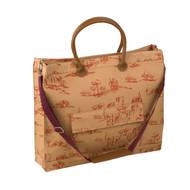 Tuscan Toile Arancia Portfolio Tote Bag