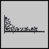 "Sign Bracket 36"" Roses & Thorns Accent"
