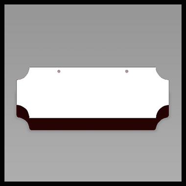 Inverted Corner Sign Blank