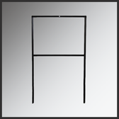 Sign Frame Drop-In H-Frame Style