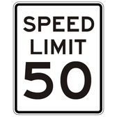 X-SIGN-R2-1 Speed Limit Sign