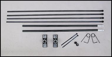 SPECIAL BANNER BRACKET KIT-Fiberglass rods with aluminum tip.