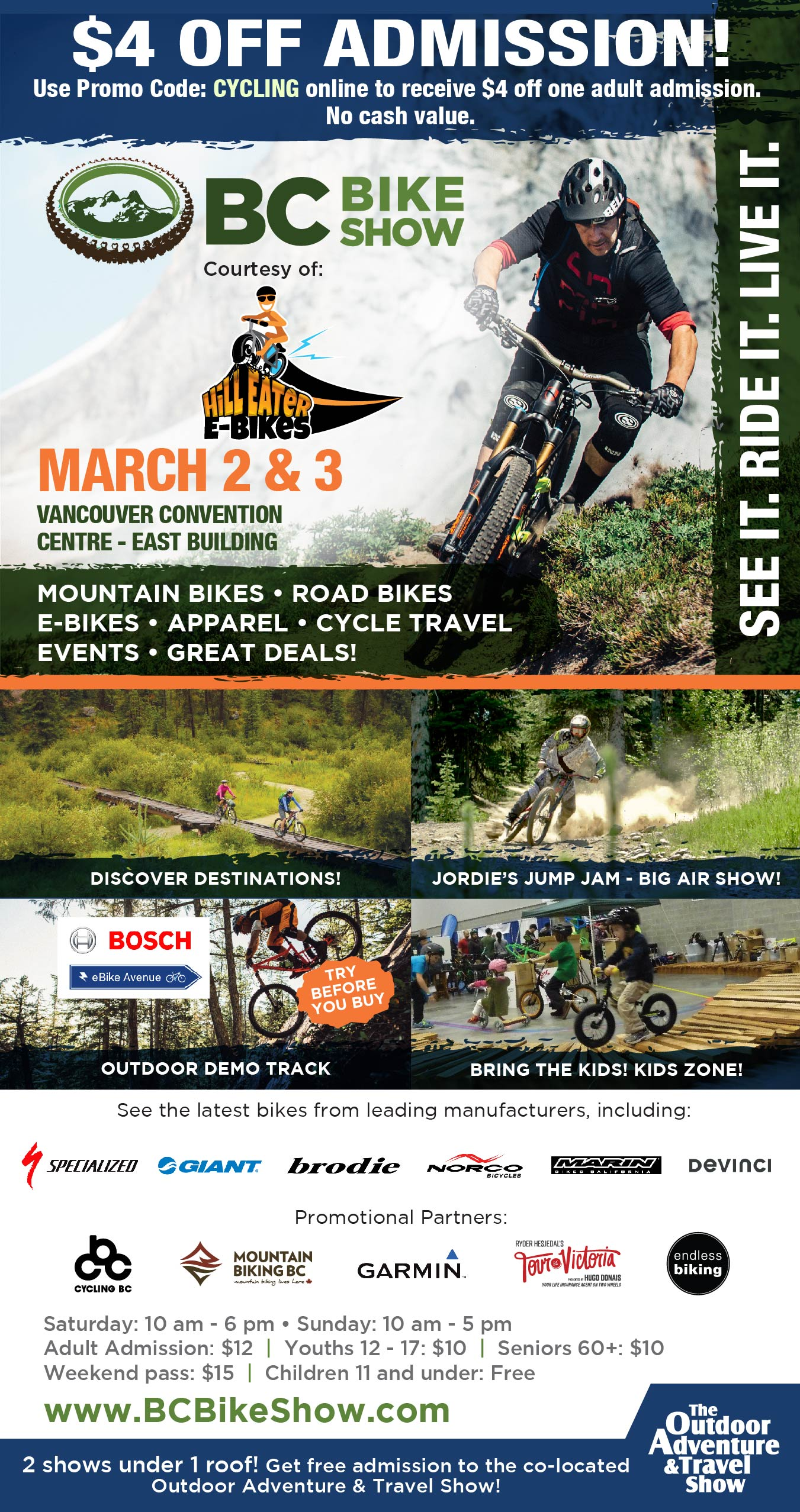 Vancouver Bike Show, new hilleater bikes, new products - Hilleater ca