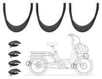 Juiced U500 fender parts set