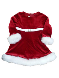 Ashely Ann Infant & Toddler Girls Red Glittery Party Dress Holiday Santa