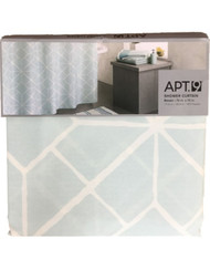 Apt 9 Blue Mosaic Fabric Shower Curtain Pretty Geometric Bath