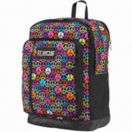 "Jansport Trans Colorful Peace Signs MegaHertz 18"" Backpack, School Travel Bag"