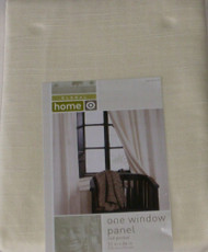 "Global Home Pale Yellow Window Panel 84"" Curtain"