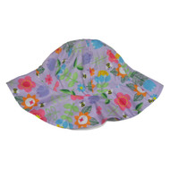 ABG Toddler Girls Purple Floral Sun Hat  Floppy Bumblebee Bucket Cap