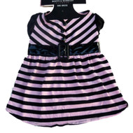 Boots & Barkley Pink & Black Striped Glamour Dog Dress