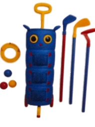 David Kirks Pitter Patter Caterpillar Golf Set Kids Golf Clubs Cart & Balls