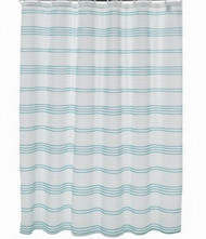 Apt 9 Teal Blue Mosaic Stripe Fabric Shower Curtain Pretty Striped Bath