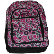 "ProSport Pink Polka Dot 18"" Backpack, Op Art School Travel Bag"