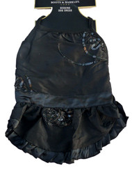 Boots & Barkley Black Sequin Dog Dress Holiday Pet Gown