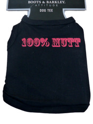 Boots & Barkley Black 100% Mutt Dog Tank Top T-Shirt