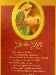 Dayspring God's Gift Christian Christmas Cards with Bible Verse & Poem