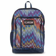 "Trans by Jansport Megahertz II 18"" Backpack Multi-colored Chevron School Travel"