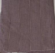 C&F Enterprises Burgundy Check Pleated Bedskirt Dust Ruffle Full Bed Skirt