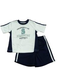 MLB Seattle Mariners Toddler Boys Blue & White T-Shirt & Shorts Set 4T