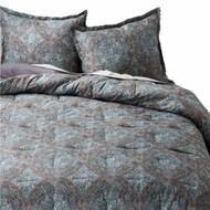 Blue Medallion Full Queen Bed Comforter Set 3 Piece